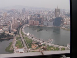 Vue de la tour Macao