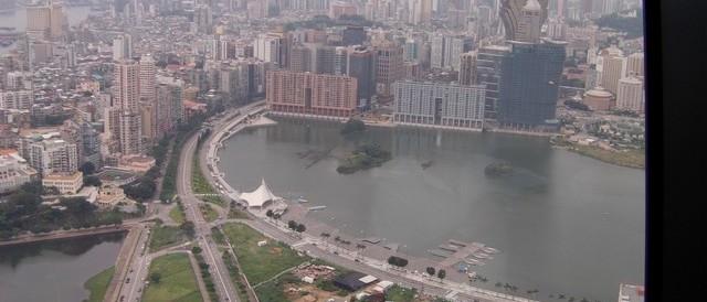 Une vue de la tour Macao