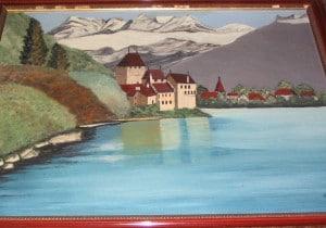 Village au bord du lac