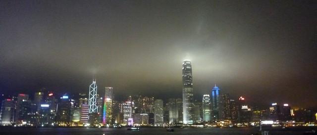 La nuit à Hong Kong