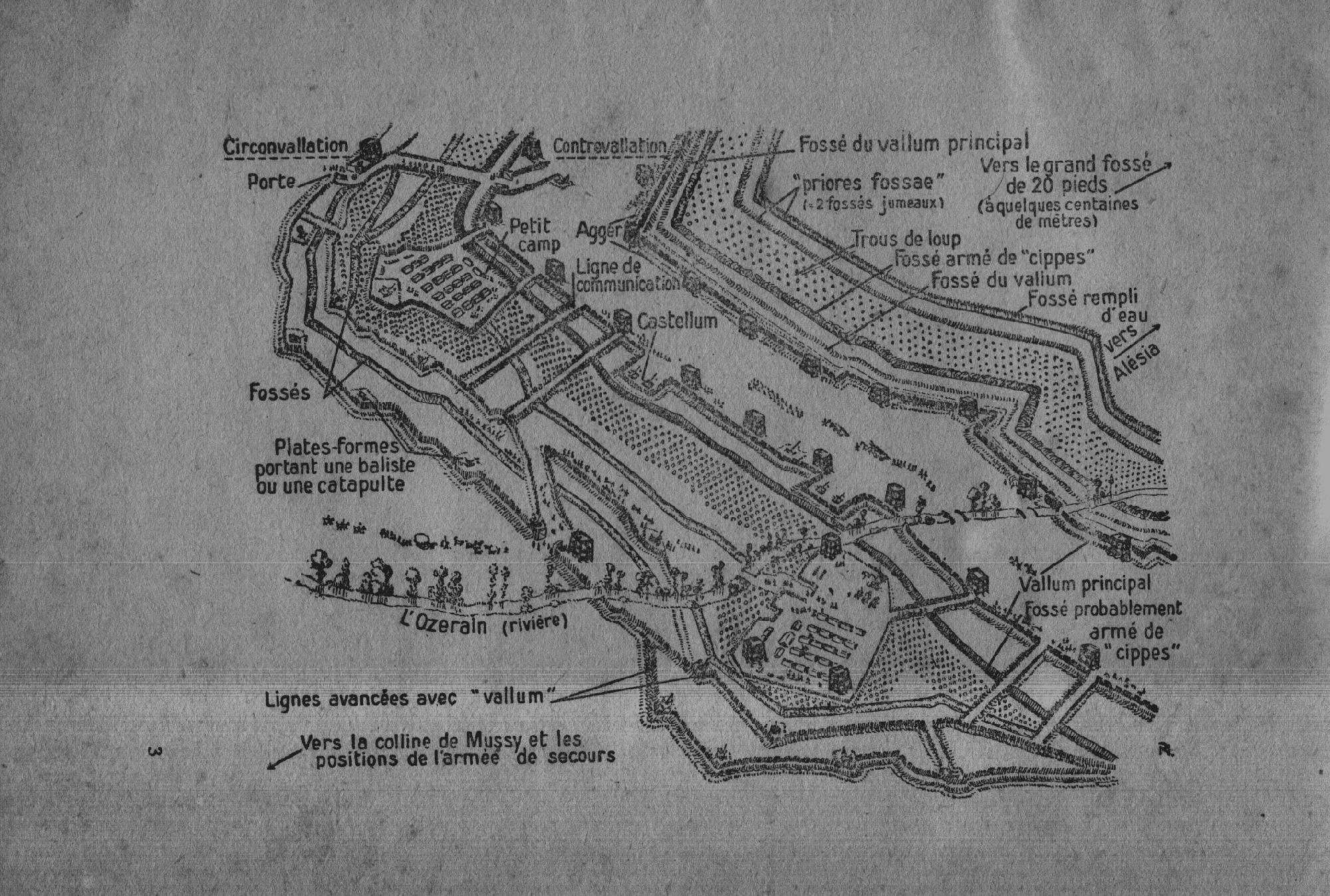 Les travaux de siège des Romains